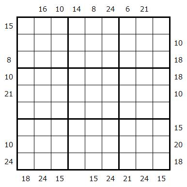 边框积和数独-你能判断提示是积还是和吗?